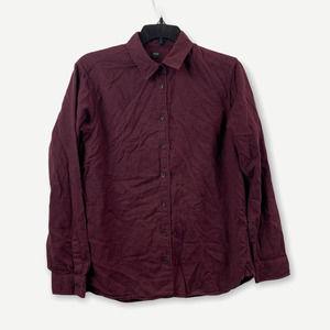 Uniqlo Purple Longsleeve Button-Up Shirt